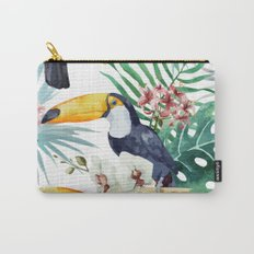 Tropical Bird Pattern 04 Carry-All Pouch