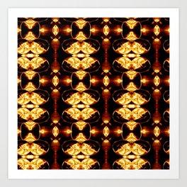 Golden Blood Abstract Pattern Art Print