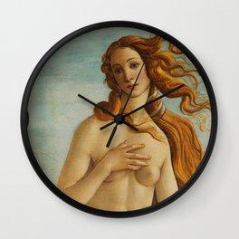 The Birth of Venus detail Wall Clock