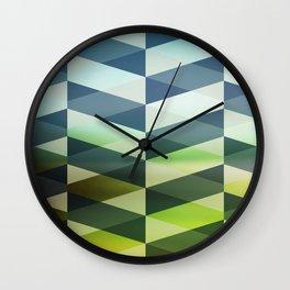Herring Greens And Blues Wall Clock
