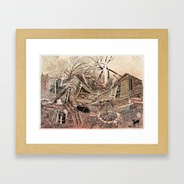 House For Sale (Bonfire) Framed Art Print