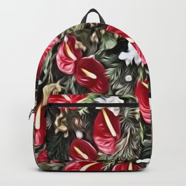 Amazing Floral Christmas Arrangement Backpack