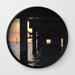 under the pier Wall Clock