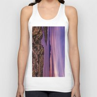 west coast Tank Tops featuring West Coast Goodnight by Paul & Fe Photography