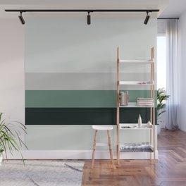 aqua || gray horizon Wall Mural