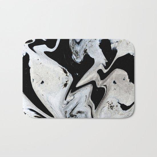 Black_paint Bath Mat