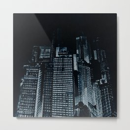A Blue Night in the City 2 Metal Print