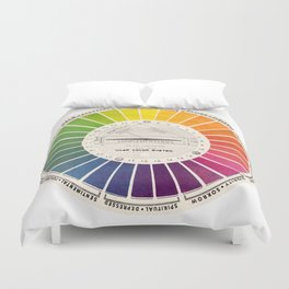Vintage Color Wheel - Art Teaching Tool - Rainbow Mood Chart Duvet Cover