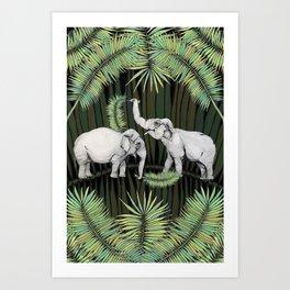 The Elephant Queens Art Print