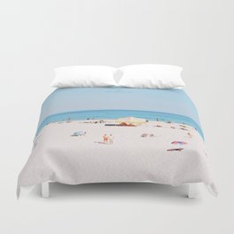 Cottesloe Beach Clock Duvet Cover