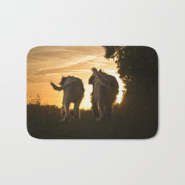 Canine Sunset Silhouettes Bath Mat