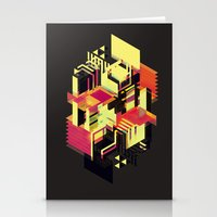 literary Stationery Cards featuring Utopia in Six or Seven Colors by John Magnet Bell