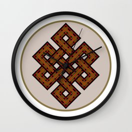The Endless Knot I Wall Clock