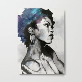 Miseducation: Lauryn Hill tribute portrait Metal Print