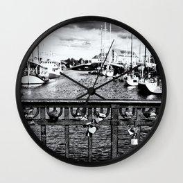 Little Silver Heart Wall Clock
