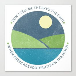 Inspirational round print with landscape Canvas Print