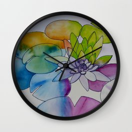 Water Color Lily Wall Clock