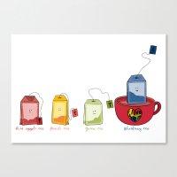tea Canvas Prints featuring tea by Emma Harckham