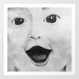Baby face Art Print
