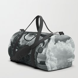 Eco Hipster Black and White Duffle Bag