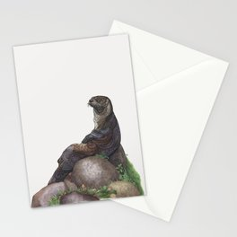 The Majestic Otter Stationery Cards