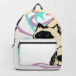 Cat Illustration in Colors Backpack
