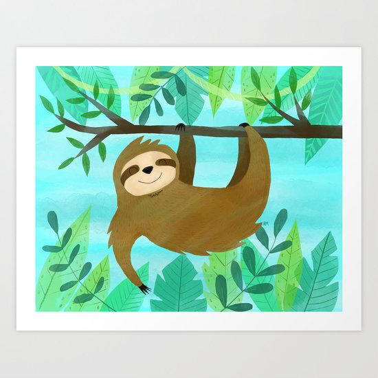 Cute Sloth by ruthmillercreative