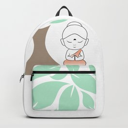Little Buddha meditating under a tree Backpack