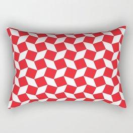 Red Op Art Pattern Rectangular Pillow