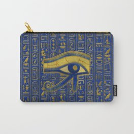 Gold Egyptian Eye of Horus - Wadjet Lapis Lazuli Carry-All Pouch