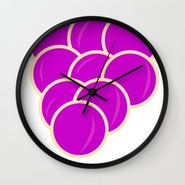 Be Grapeful Wall Clock
