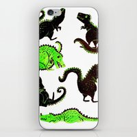 dinosaurs iPhone & iPod Skins featuring dinosaurs by Lara Paulussen
