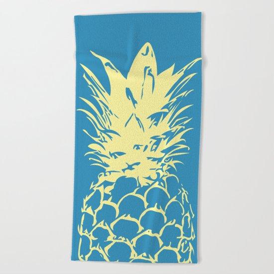Unique Yellow Pineapple Design Beach Towel