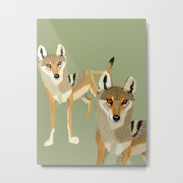 Totem Indian Wolf Metal Print