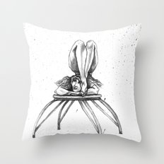 Contortionist at rest Throw Pillow