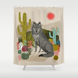 Wolf by Andrea Lauren  Shower Curtain