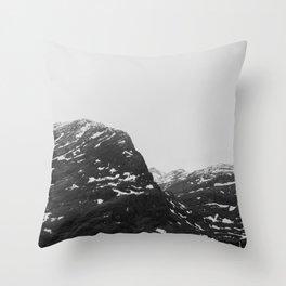 Mountains round Geiranger fjord Norway Throw Pillow