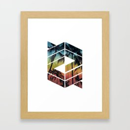 Geometric Summer Night Framed Art Print