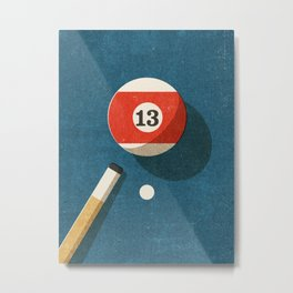 BILLIARDS / Ball 13 Metal Print