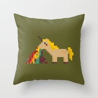 unicorn Throw Pillows featuring unicorn by MariMari
