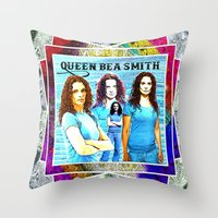 xena Throw Pillows featuring Queen Bea Smith by SwanniePhotoArt