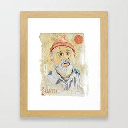 BILL MURRAY - ZISSOU Framed Art Print