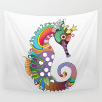 horse Wall Tapestries featuring horse  by mark ashkenazi