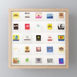 Vintage Matchbooks Framed Mini Art Print