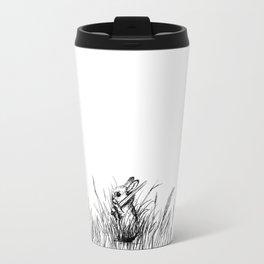 A Bunny. With a Sword. Travel Mug