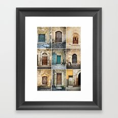 Nine Doors Framed Art Print