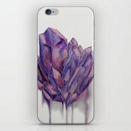 Purple Crystal iPhone Skin