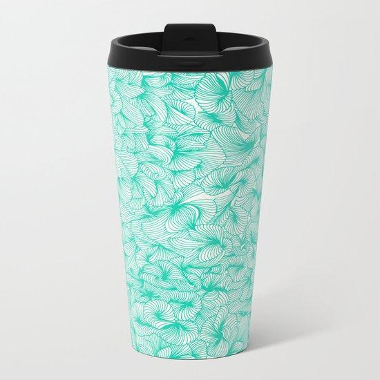 Knee-Deep in Turquoise Ink Metal Travel Mug