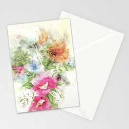 Couple of Flowers #floral #society6 #watercolor Stationery Cards