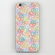 Colored pattern iPhone & iPod Skin